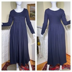 Laura Ashley 100% Cotton Jersey Maxi Dress